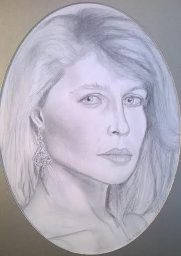 Drawing of Catherine by Heather
